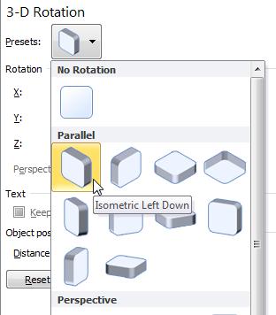isometric left down